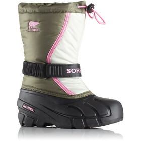 Sorel Youth Flurry Boots Hiker Green/Bubblegum